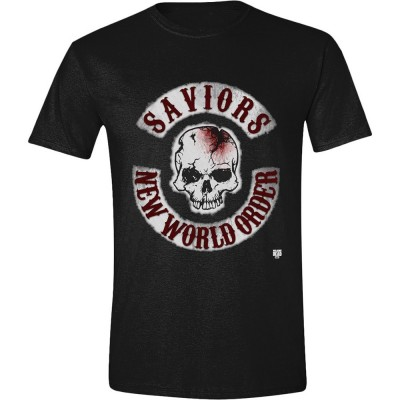 T-shirt The Walking Dead Saviors New World Order Skull maglia Uomo