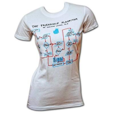 T-shirt Big Bang Theory Algoritmo dell'amicizia maglia donna ufficiale